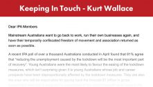 IPA Keeping In Touch – Mainstream Australians Value Work And Small Business – 2 June 2020