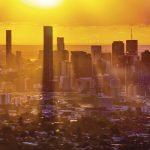 Hazy days: Brisbane CBD from Mount Coot-tha