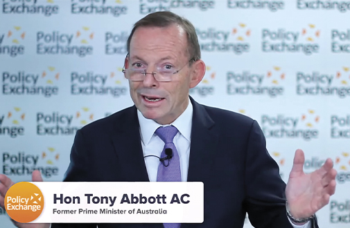 Tony Abbott delivering the Policy Exchange speech on 1 September 2020